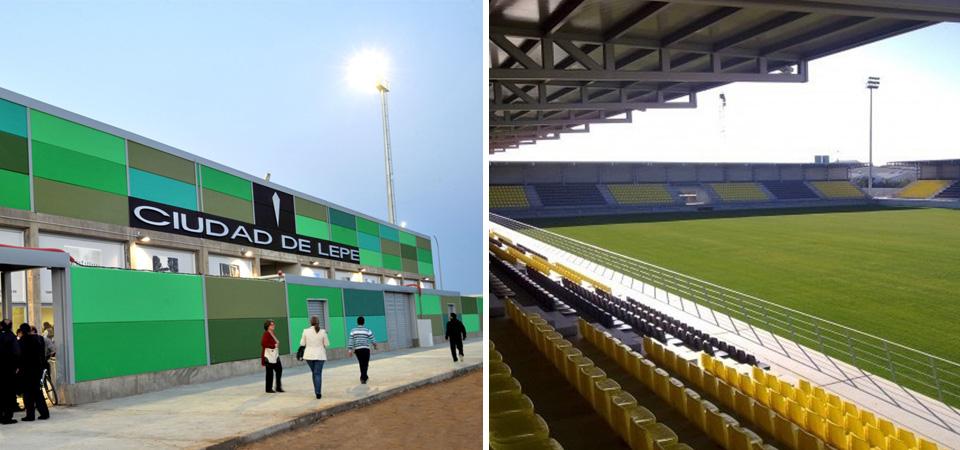 Estadio Municipal Ciudad de Lepe. Instalación eléctrica y alumbrado exterior